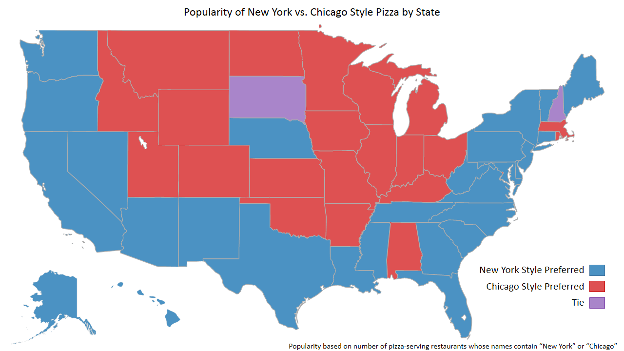 Factual A Slice Of Factuals Data Analyzing Pizza Preferences - Chicago map new york
