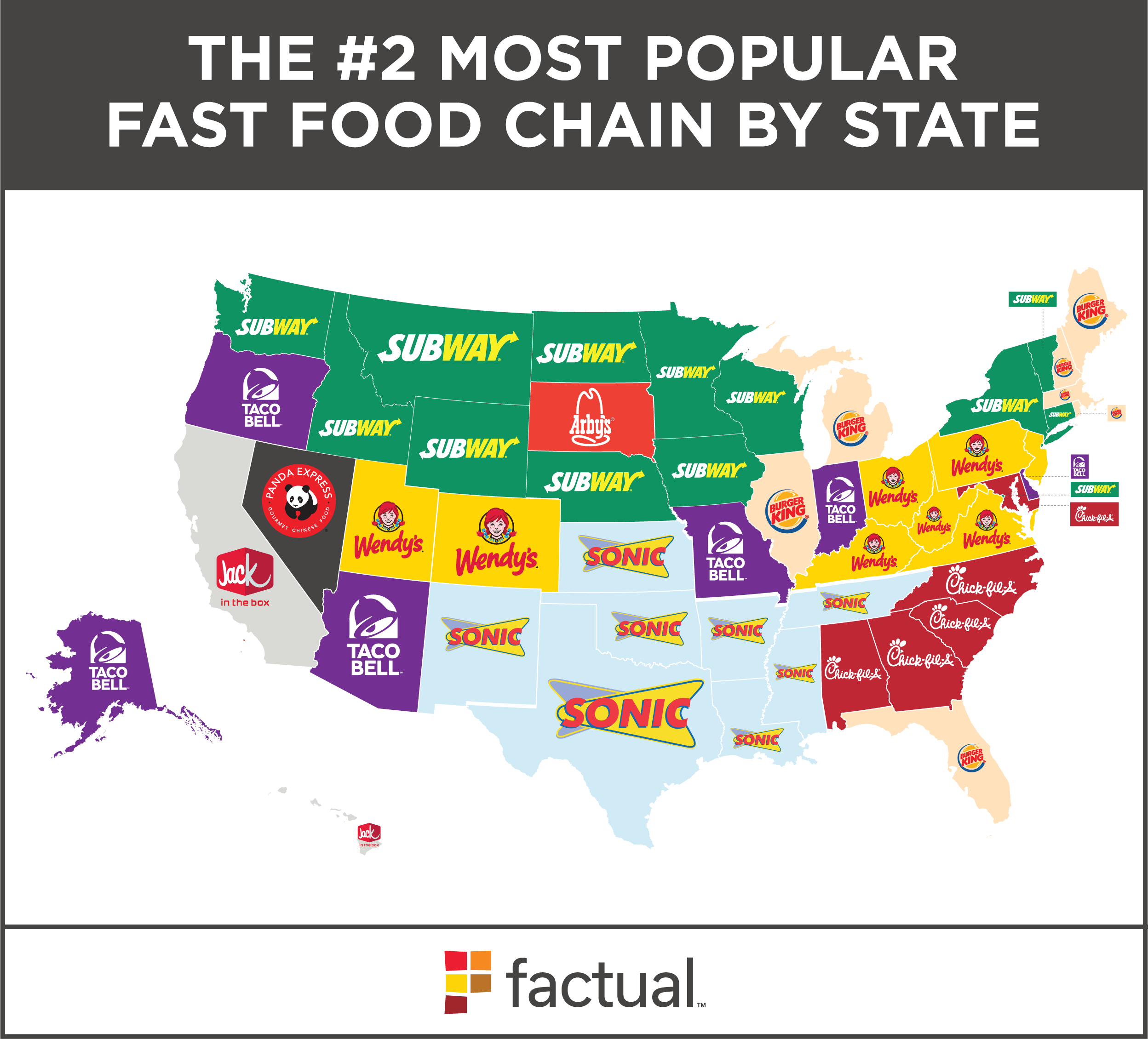 Top Fast Food Restaurants By State